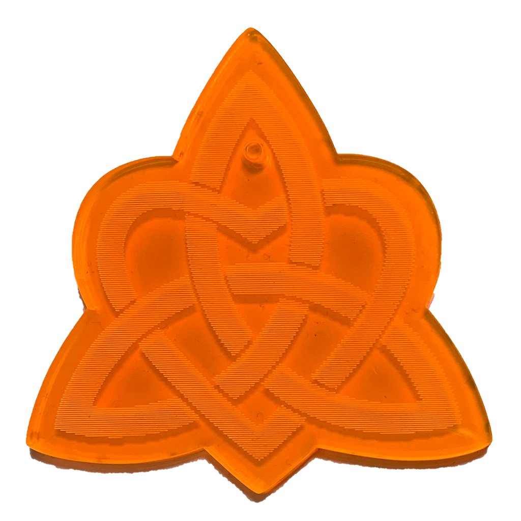 Trivium Pendent Orange - LIMITED
