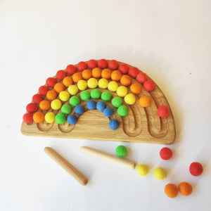 Medium Montessori Wooden Rainbow Tracing Board