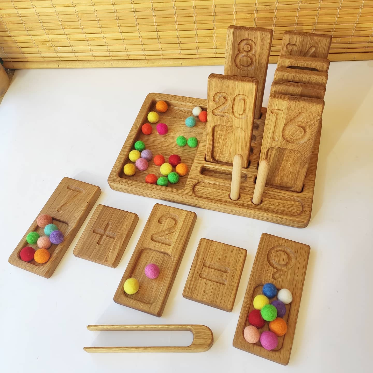 Montessori Double-Sided Number Trays