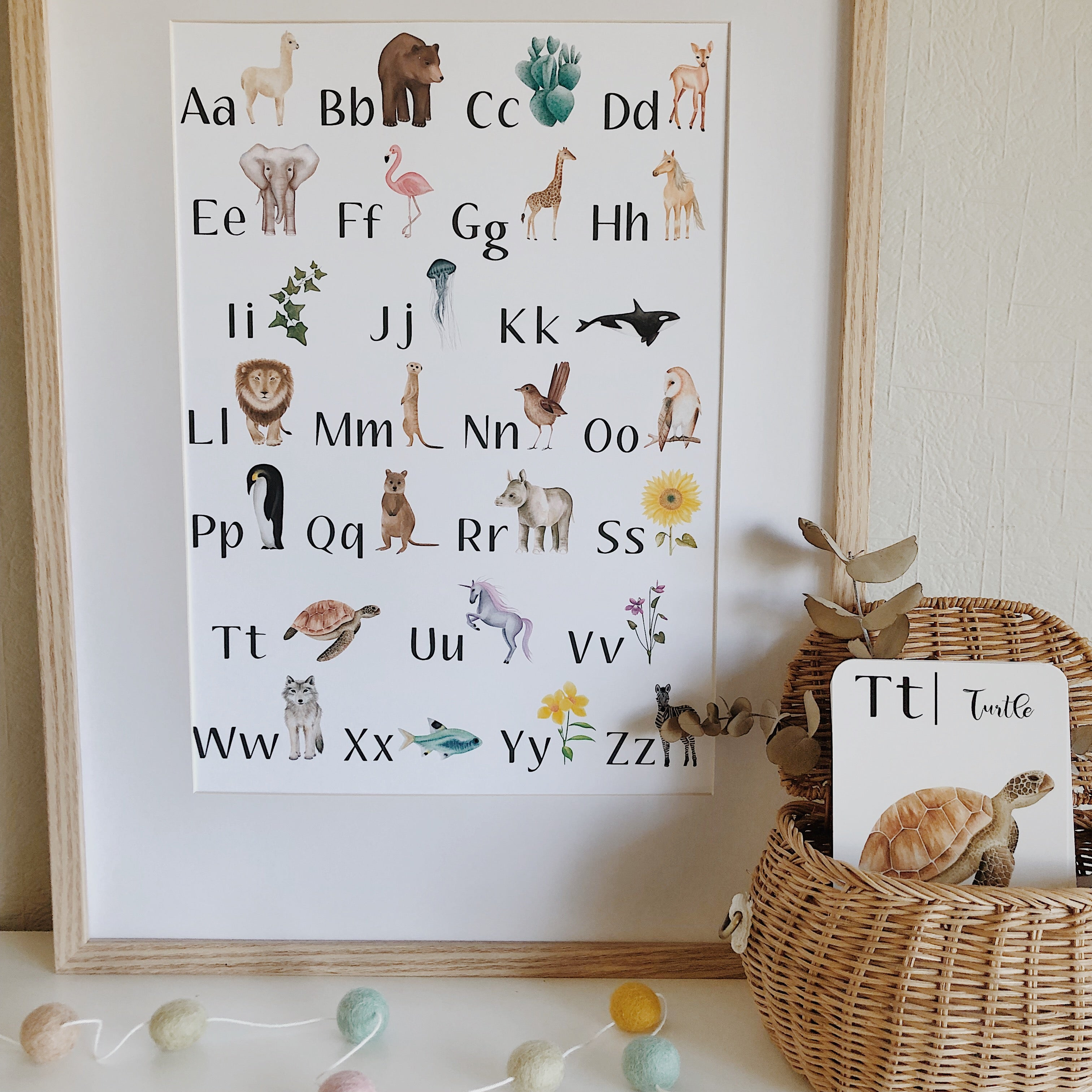 Jo Collier Designs - Nature's ABC Print