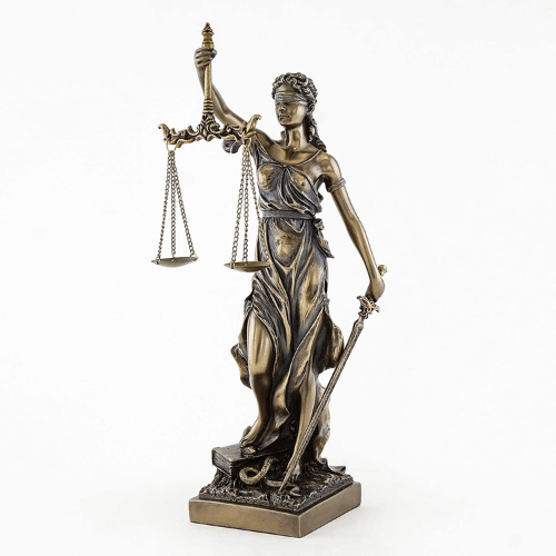 scales of justice medallions