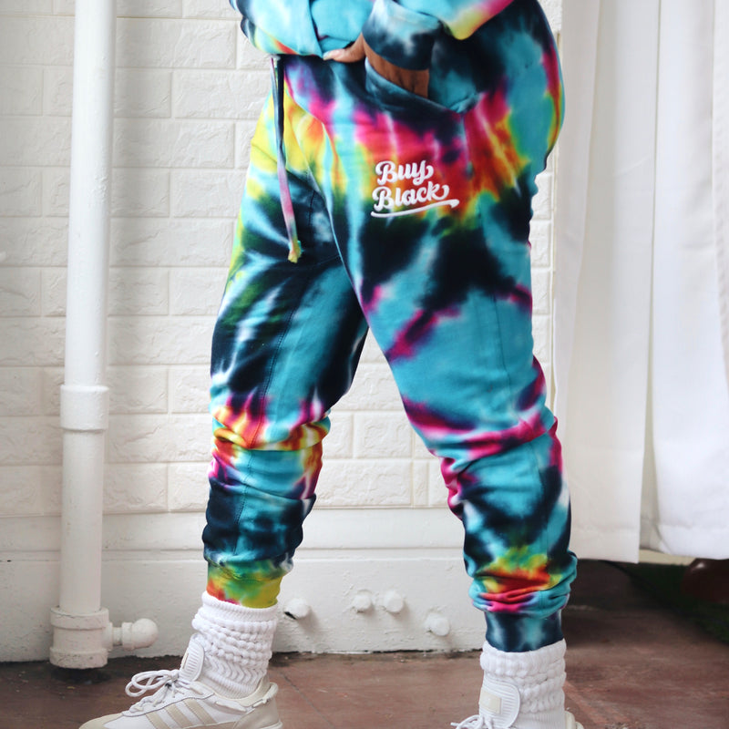 Buy Black Tie Dye Joggers