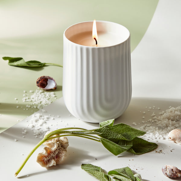 Load image into Gallery viewer, Arc Candle, Sea Salt & Sage