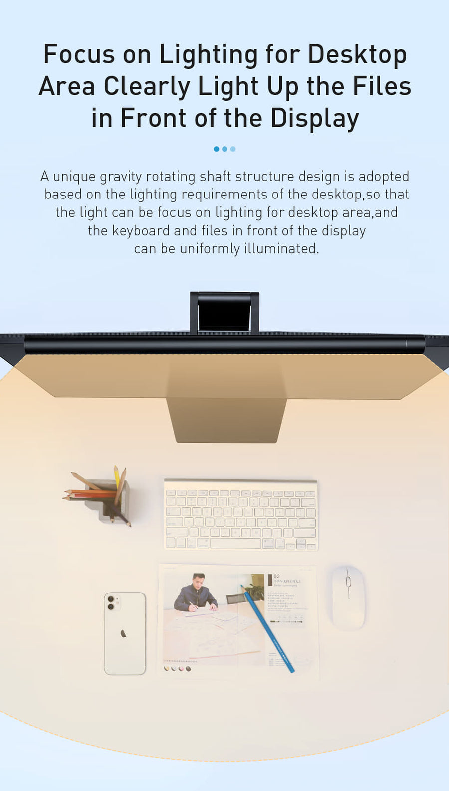 LED DESK EYE CARE ADJUSTABLE READING SCREEN LAMP