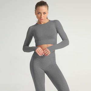 Women Seamless Fitness Tracksuit Mujer
