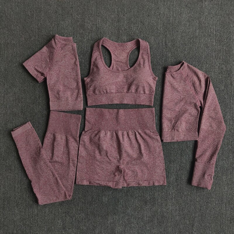 2/3/5PCS Seamless Women Yoga Set