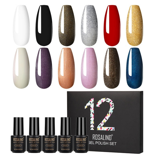 ROSALIND Gel Nail Polish Set for Nails
