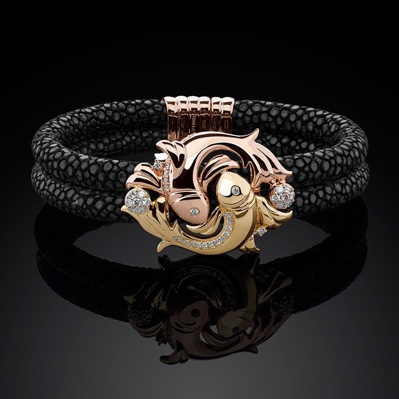 ZODIAC PISCES BRACELET / TWO-TONE (YELLOW & ROSE GOLD)