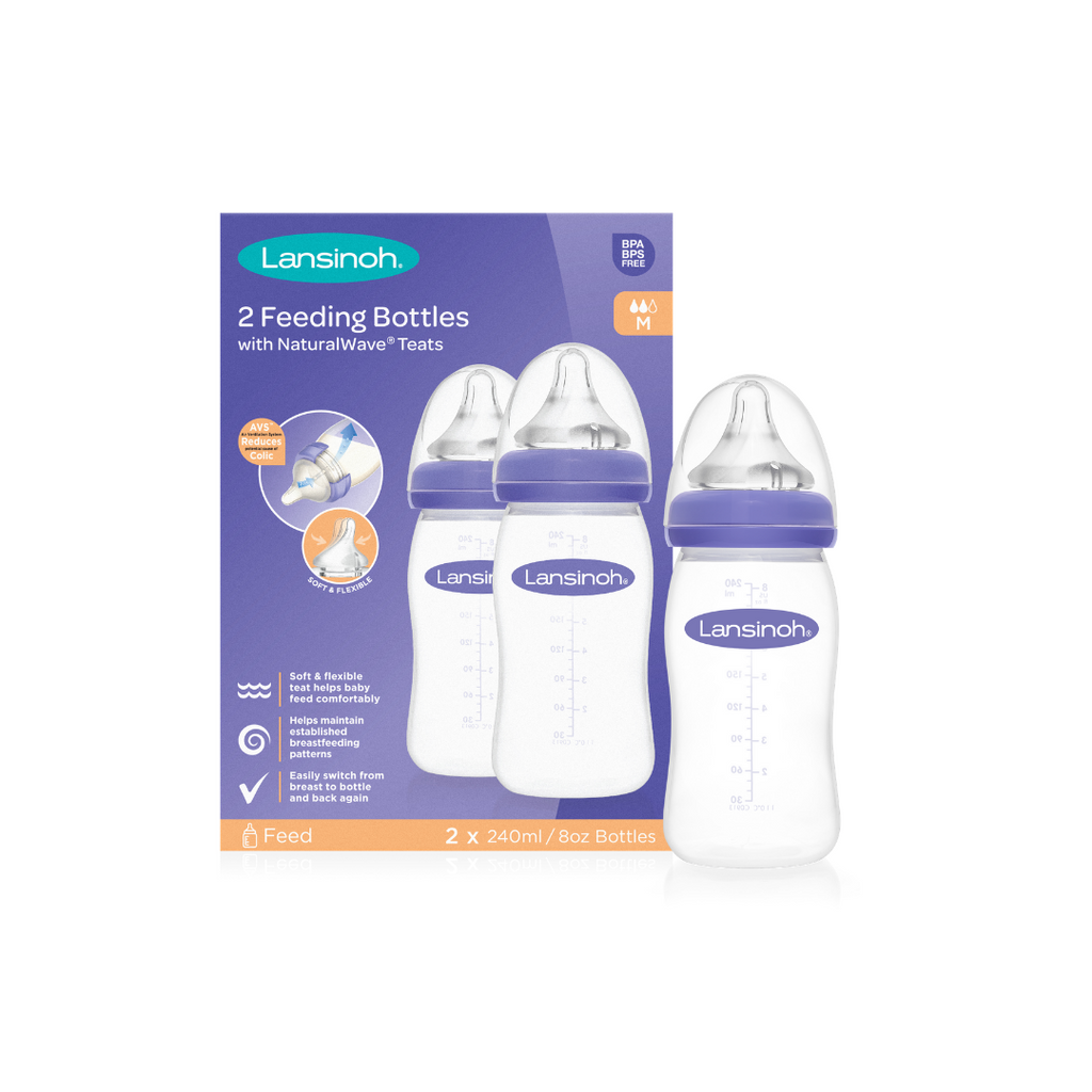 Pack of 2 Feeding Bottle 240ml with NaturalWave® Teat