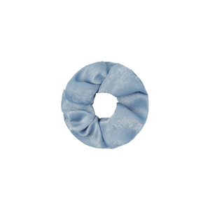 Scrunchie satin feel blue