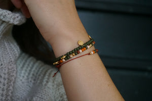 Armband herfstmix in goud of zilver