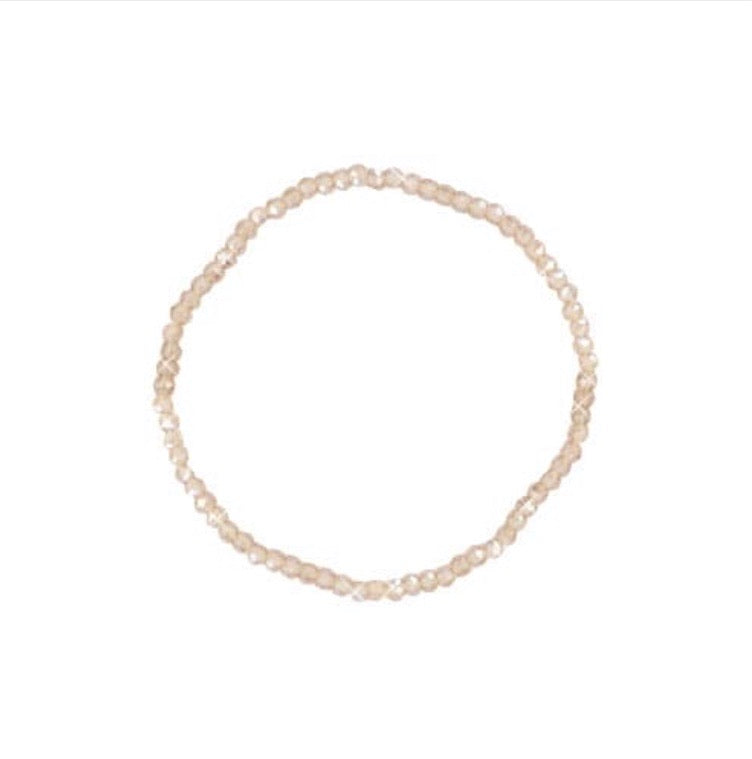Top facet armband champagne