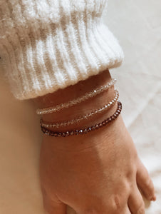 Top facet armband chrystal pearl shine