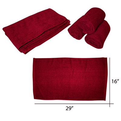 "Cre8tion Salon Towel 16"" x 29"" dz - Burgundy"