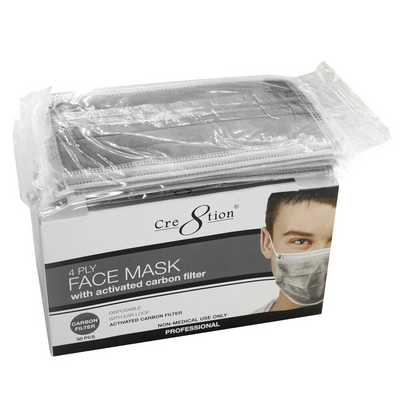 Cre8tion 4 Ply Face Mask - Carbon