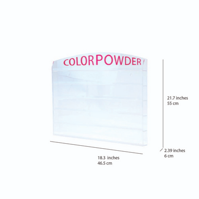 Cre8tion Acrylic - Wall Mounted Rack - 'Color Powder' 1oz 72 pcs.