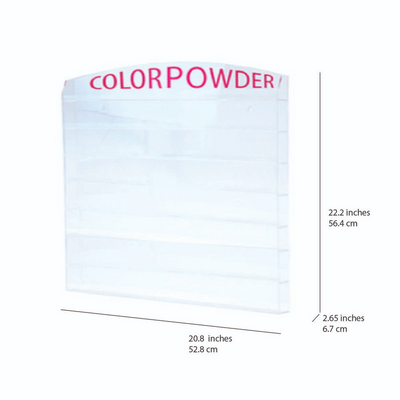 Cre8tion Acrylic - Wall Mounted Rack - 'Color Powder' 2oz 72 jars