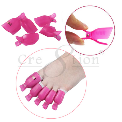 Cre8tion Reusable clip on Toe - Gel Remover Sets