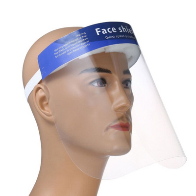 Cre8tion Clear Face Shield - With Sponge & Blue Banner
