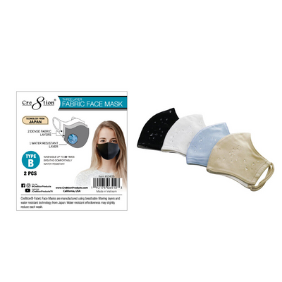 Cre8tion 3 layer Fabric Face Mask - Style B