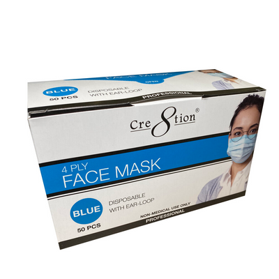 Cre8tion 4 Ply Face Mask - Blue