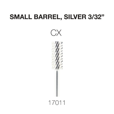Cre8tion Carbide Small Barrel, CX, Silver 3/32