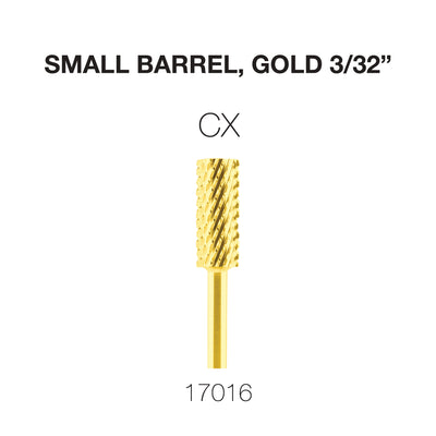 Cre8tion Carbide Small Barrel, CX, Gold 3/32