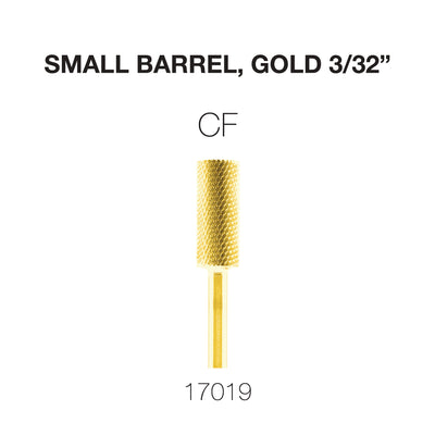 Cre8tion Carbide Small Barrel, CF, Gold 3/32