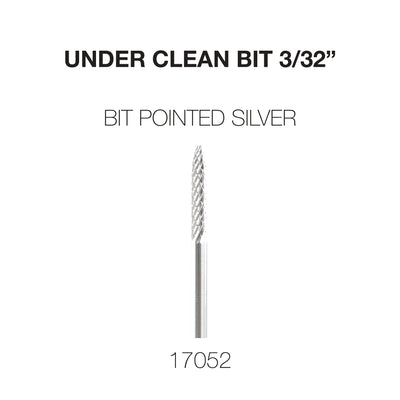 Cre8tion Under Clean 3/32 Carbide Bit Pointed- Silver