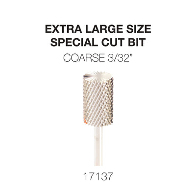 Cre8tion Extra Large Size - Special Cut Bit Coarse 3/32 Silver