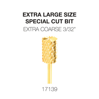 Cre8tion Extra Large Size - Special Cut Bit Extra Coarse 3/32 Gold
