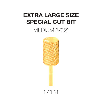 Cre8tion Extra Large Size - Special Cut Bit Medium 3/32 Gold