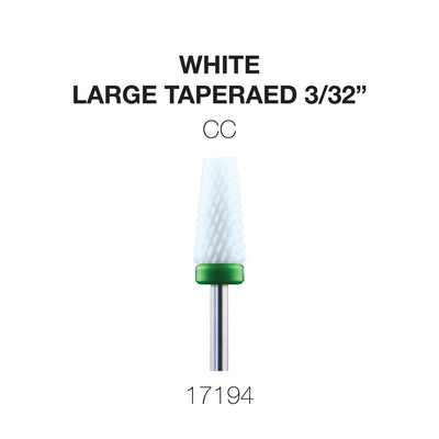 Cre8tion White Ceramic - Large Tapered - CC -  3/32