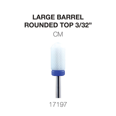 Cre8tion White Ceramic - Large Barrel- Rounded Top - CM -  3/32
