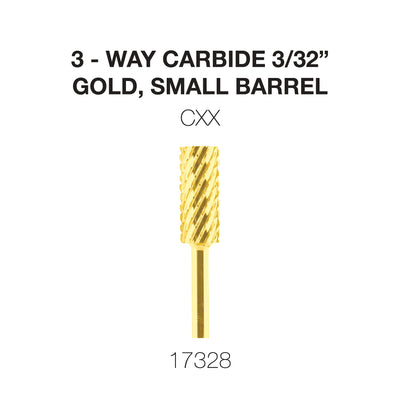 Cre8tion 3-Way Carbide Gold, Small Barrel CXX 3/32