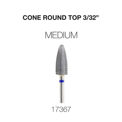 Cre8tion Cone Round Top Nail Filing Bit Medium 3/32