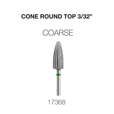 Cre8tion Cone Round Top Nail Filing Bit Coarse 3/32""