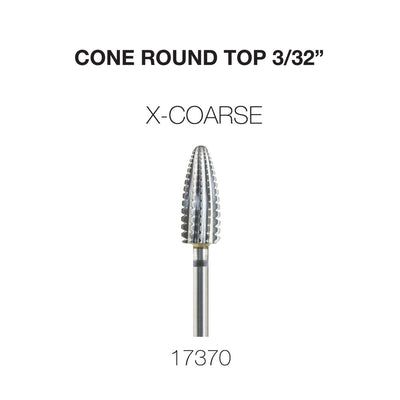 Cre8tion Cone Round Top Nail Filing Bit X-Coarse 3/32