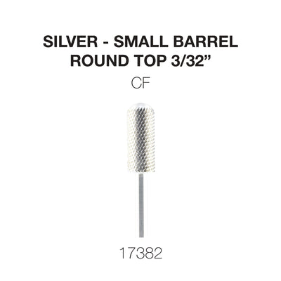 Cre8tion Silver Carbide- Small Barrel-Round Top- CF 3/32