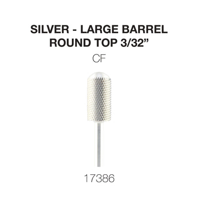 Cre8tion Silver Carbide- Large Barrel-Round Top- CF 3/32
