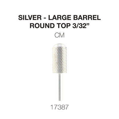 Cre8tion Silver Carbide- Large Barrel-Round Top- CM 3/32