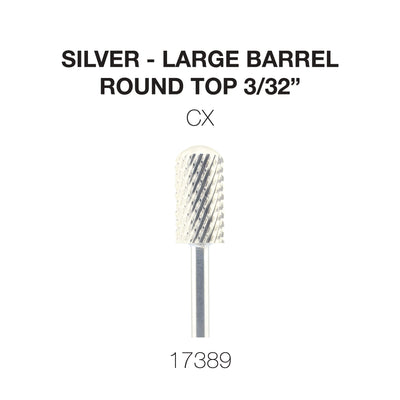 Cre8tion Silver Carbide- Large Barrel-Round Top- CX 3/32