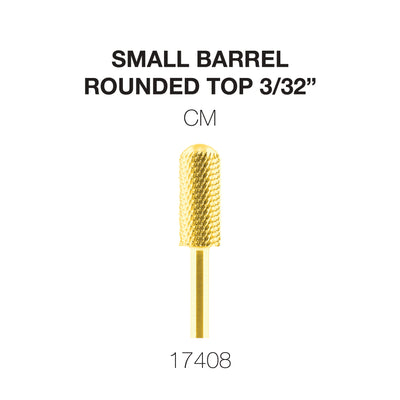 Cre8tion Gold Carbide- Small Barrel-Round Top- CM 3/32
