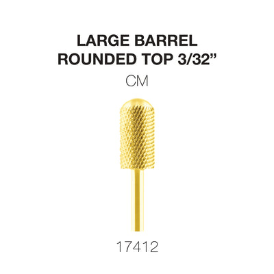 Cre8tion Gold Carbide- Large Barrel-Round Top- CM 3/32