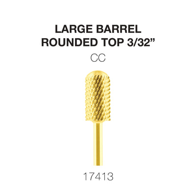 Cre8tion Gold Carbide- Large Barrel-Round Top- CC 3/32