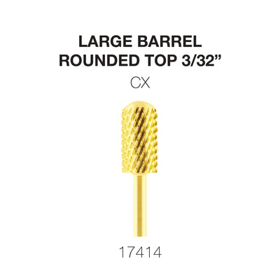 Cre8tion Gold Carbide- Large Barrel-Round Top- CX 3/32