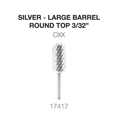 Cre8tion Silver Carbide- Large Barrel-Round Top- CXX 3/32