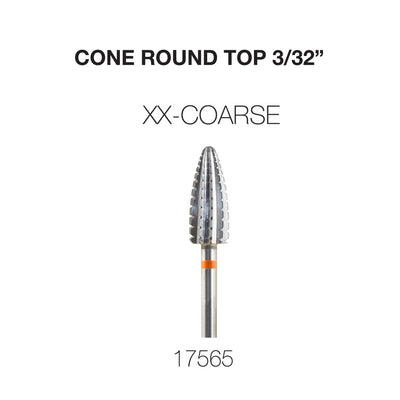 Cre8tion Cone Round Top Nail Filing Bit CXX 3/32""