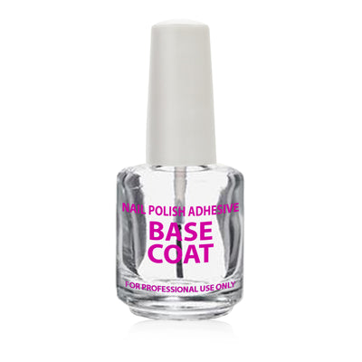 Cre8tion Empty Glass  Bottle .5oz. 360 pcs./case ' Nail Polish Adhesive BASE COAT'