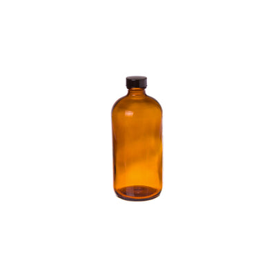 Cre8tion Amber Glass Bottle 16oz 12 pcs./case